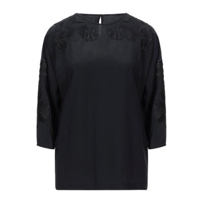 ドルチェ & ガッバーナ DOLCE & GABBANA ブラウス ブラック 36 シルク 100% / レーヨン / ポリエステル ブラウス