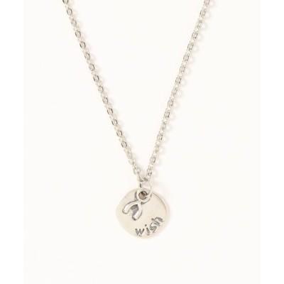 ネックレス 【14 BURNER SELECT】925シルバートップ wishプレート デザイン ネックレス
