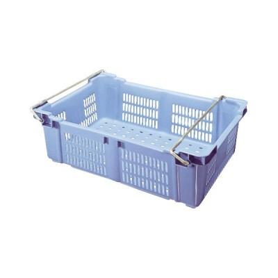 (業務用・コンテナ)セキスイ バスケットコンテナ BK-40Hブルー ハンドル付(入数:1)