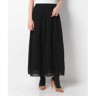 【アルアバイル/allureville】 【Loulou Willoughby】カットジャガードプリーツスカート