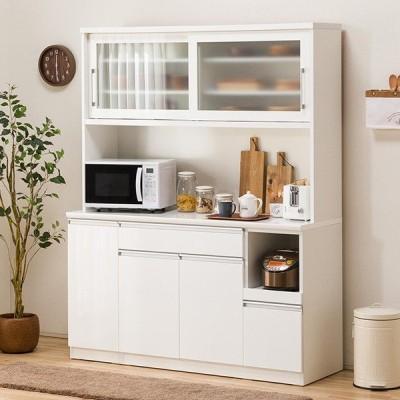 食器棚(レジューム 150TG-S WH/150TL-R WH) ニトリ 『配送員設置』 『5年保証』