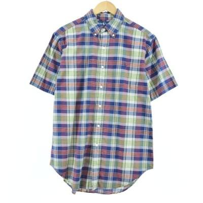 ラルフローレン ボタンダウンチェックシャツ メンズM /eaa052542