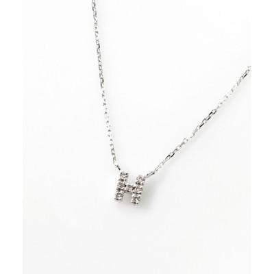 perky room / K10ホワイトゴールド ダイヤモンドイニシャルネックレス WOMEN アクセサリー > ネックレス