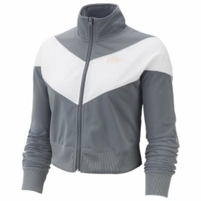 ナイキ レディース/ウーマン Nike Heritage Track Jacket ジャケット Cool Grey/White/Echo Pink