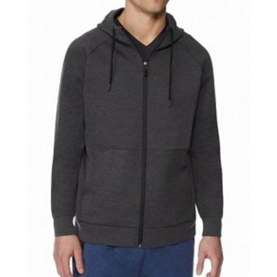 ファッション トップス 32 Degrees Mens Sweater Charcoal Gray Size XL Fleece Tech Hooded