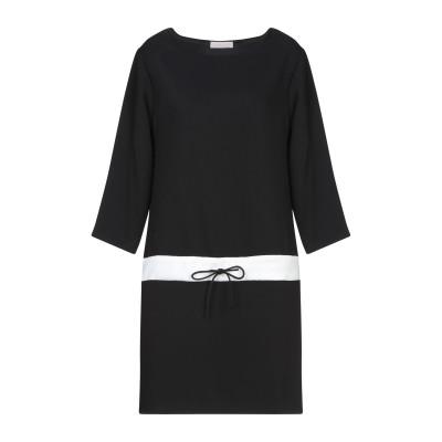 ANNIE P. ミニワンピース&ドレス ブラック 40 ポリエステル 100% ミニワンピース&ドレス