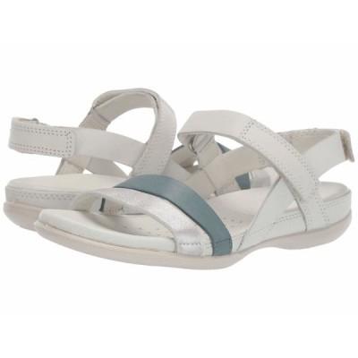 エコー サンダル シューズ レディース Flash Ankle Strap Sandal Alu Silver/Trooper/Shadow White