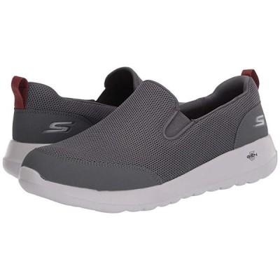 スケッチャーズ Go Walk Max - Clinched メンズ スニーカー 靴 シューズ Grey/Burgundy