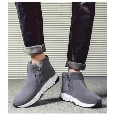 セール 学生 スノーシューズ ブーツ メンズ  裏起毛 スニーカー 防滑  防水  防寒 雪靴  通勤 通学