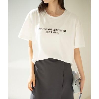 tシャツ Tシャツ 【綿100%】ボックスシルエットロゴTシャツ