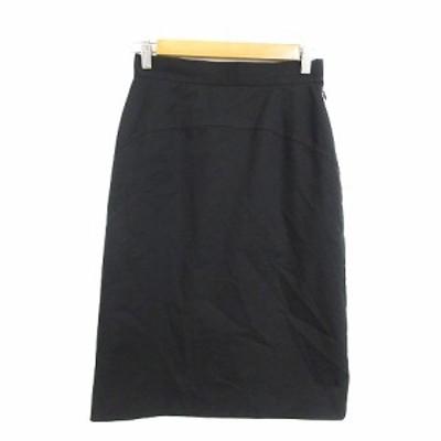 【中古】アンケート en quete スカート タイト ひざ丈 9 黒 ブラック /AAM40 レディース