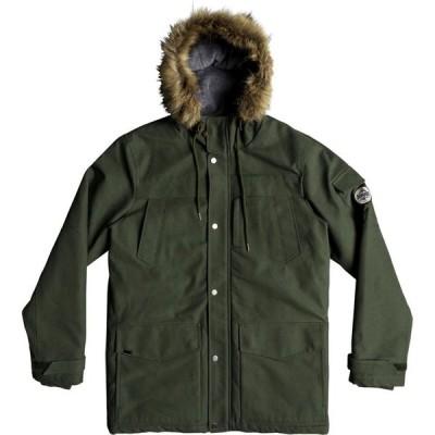 クイックシルバー Quicksilver メンズ コート フード アウター Storm Drop Water Resistant Hooded Parka Green