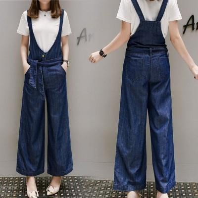 サロペット ワイドデニム カジュアル オールインワン 春夏 ズボン パンツ 大きいサイズ Good Clothes