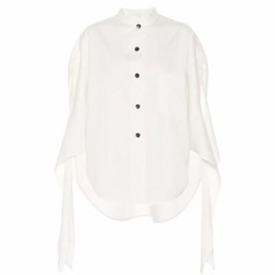 ペーター ペトロフ Petar Petrov レディース ブラウス・シャツ トップス Burr cotton and silk twill shirt White