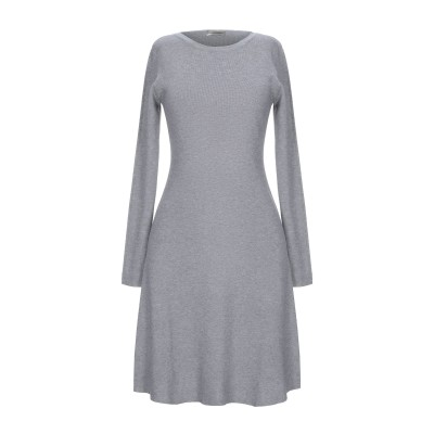 CASHMERE COMPANY ミニワンピース&ドレス グレー 48 ウール 50% / カシミヤ 30% / ナイロン 15% / ポリウレタン