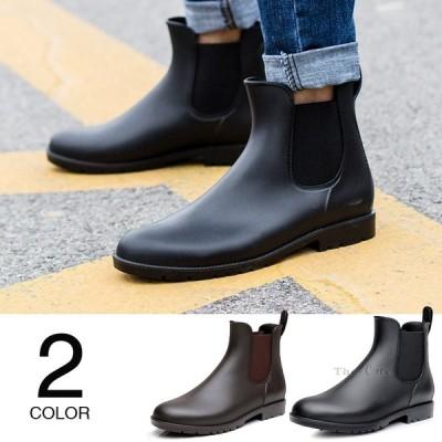 レインシューズ メンズ ショートブーツ レインブーツ 防水 雨靴 メンズ靴 シューズ 2019 新作 歩きやすい