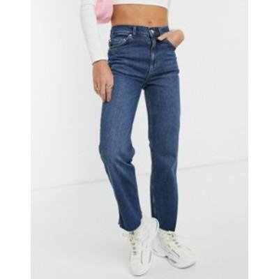 エイソス レディース デニムパンツ ボトムス ASOS DESIGN high rise stretch 'effortless' crop kick flare jeans in smokey darkwash Da