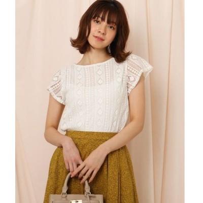 Couture Brooch / クチュールブローチ 【洗える】シアーレースブラウス