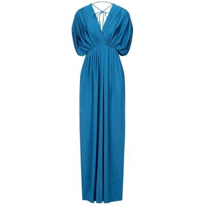 FISICO ロングワンピース&ドレス パステルブルー S ナイロン 89% / ポリウレタン 11% ロングワンピース&ドレス