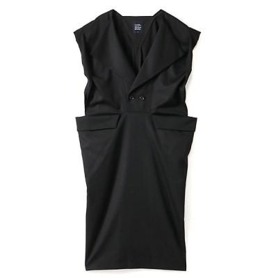 <LIMI feu(Women)/リミフゥ> W/Gabardine Square W Front Dress ブラック【三越伊勢丹/公式】