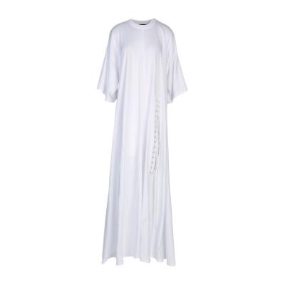 Y/PROJECT ロングワンピース&ドレス ホワイト 38 コットン 100% ロングワンピース&ドレス