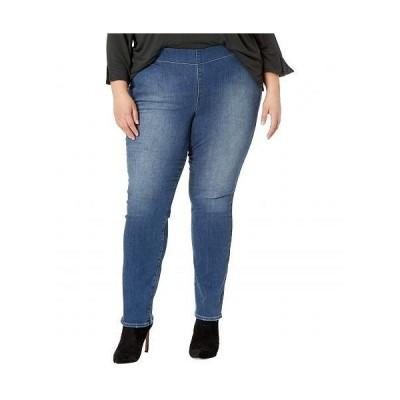 NYDJ Plus Size エヌワイディージェー レディース 女性用 ファッション ジーンズ デニム Plus Size Pull-On Straight Jeans in Clean Enchantment - Clean En..