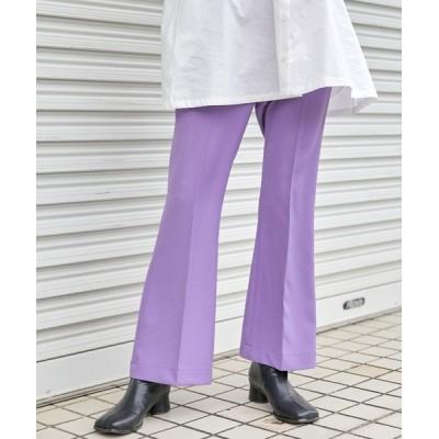 BASQUE magenta / センタープレスカラーフレアスラックスパンツ/プリーツパンツ WOMEN パンツ > スラックス