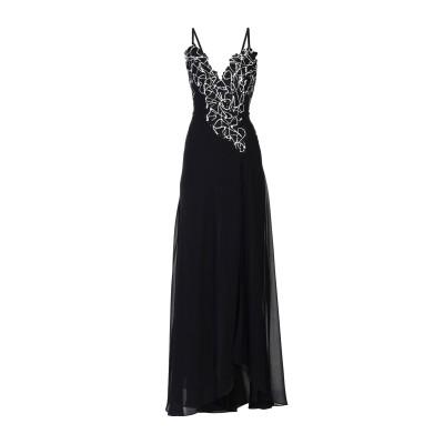 VERSACE COLLECTION ロングワンピース&ドレス ブラック 42 ポリエステル 100% ロングワンピース&ドレス
