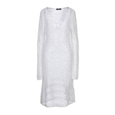 ALPHA STUDIO ニットドレス  レディースファッション  ドレス、ブライダル  パーティドレス ホワイト