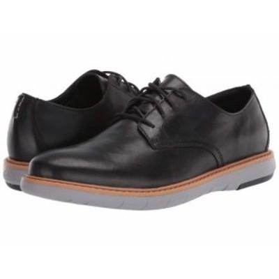 Clarks クラークス メンズ 男性用 シューズ 靴 オックスフォード 紳士靴 通勤靴 Draper Lace Black Leather w/ Grey Outsole【送料無料】