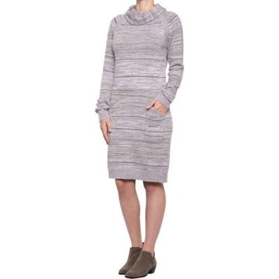 プラーナ prAna レディース ワンピース ワンピース・ドレス Bisque Sweater Dress - Organic Cotton, Long Sleeve Moonstone