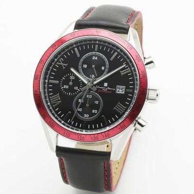 【正規品】サルバトーレ・マーラ SALVATORE MARRA 腕時計 SM19108-SSBKRD1 カジュアルクロノ クオーツ メンズ