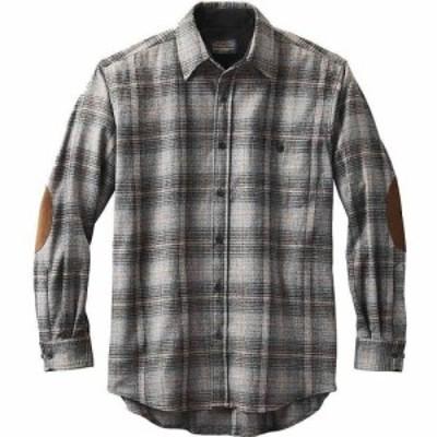 ペンドルトン Pendleton メンズ シャツ トップス Long Sleeve Trail Shirt w/ Elbow Patch Grey/Black Ombre