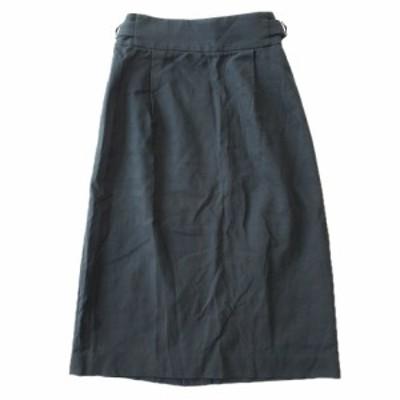 【中古】ユナイテッドアローズ UNITED ARROWS ハーフ タイト スカート 無地 1524-202-4252 サイズ36 緑 ♪2