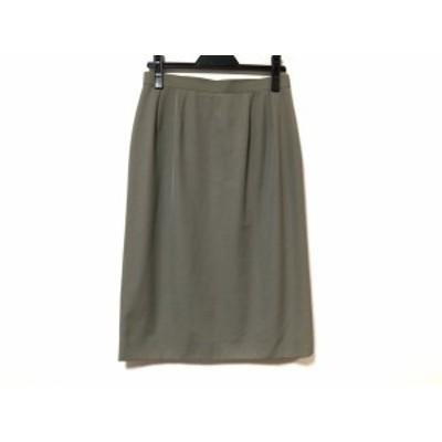 バーバリーズ Burberry's スカート サイズ11AR M レディース 美品 - グレーベージュ ひざ丈【中古】20210406
