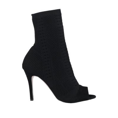 ROBERTO DELLA CROCE ショートブーツ ブラック 35 紡績繊維 / 革 ショートブーツ