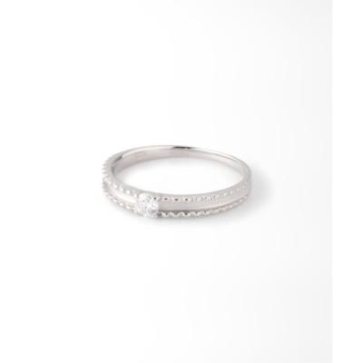 【デクーヴェルト/DECOUVERTE】 《WEB限定》PT 0.1ct ダイヤモンド マットリング H&C