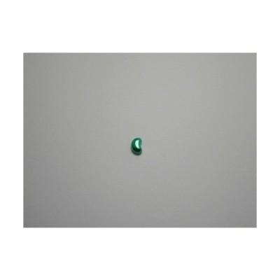 新潟 燕三条 純チタンピアス 片耳 ビーンズ グリーン緑  金属アレルギーの方も安心