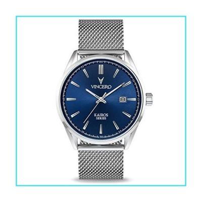 Vincero Men's Kairos Luxury Watch 42mm Quartz Movement Blue/Silver【並行輸入品】