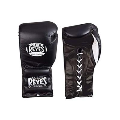 CLETO REYES ボクシングトレーニンググローブ 紐と親指付き ブラック 14オンス