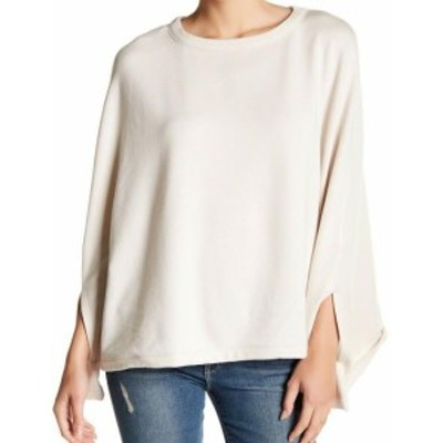 ファッション トップス H By Bordeaux NEW Beige Womens Size Medium M Pullover Poncho Sweater