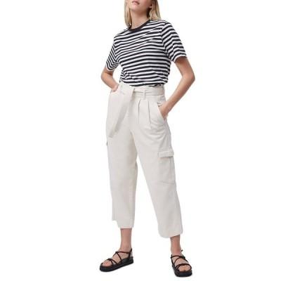 フレンチコネクション カットソー トップス レディース Cotton Striped T-Shirt Black-summer White
