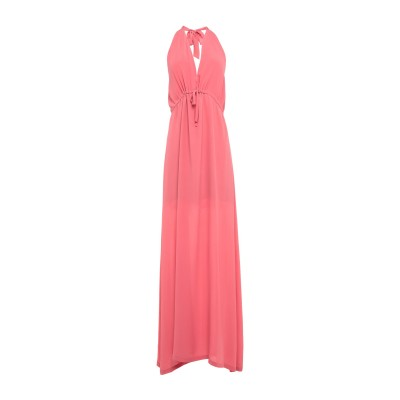 セミクチュール SEMICOUTURE ロングワンピース&ドレス パステルピンク 40 シルク 100% ロングワンピース&ドレス