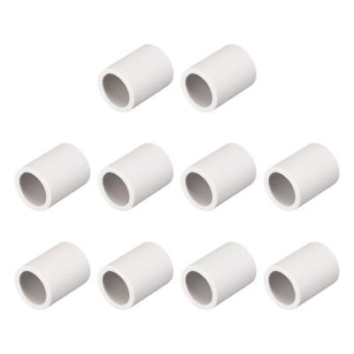 uxcell 高温耐性絶縁セラミックチューブ シングルボアパイプ 14mm直径 断熱保護 10個入り