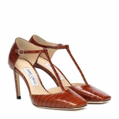 ジミー チュウ Jimmy Choo レディース パンプス シューズ・靴 Lexica 85 croc-effect leather pumps Cuoio