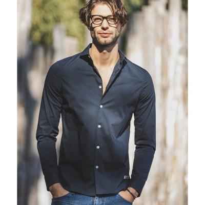 シャツ ブラウス ms4156-Stretch Simple Horizontal Color Shirts シャツ