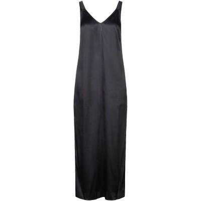 カルラ ジー CARLA G. ロングワンピース&ドレス ブラック 40 アセテート 73% / シルク 23% / ポリウレタン 4% ロングワン