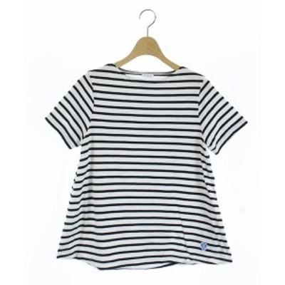 【中古】オーチバル ORCIVAL オーシバル 20SS Tシャツ カットソー 半袖 ボーダー 1 白 ホワイト 黒