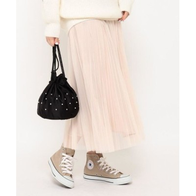 Couture Brooch/クチュールブローチ 【新色追加】チュールプリーツスカート ライトベージュ(051) 38(M)