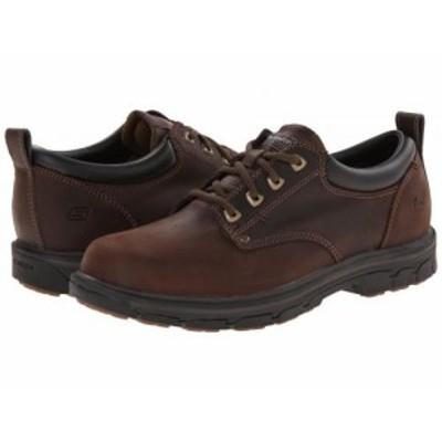 SKECHERS スケッチャーズ メンズ 男性用 シューズ 靴 オックスフォード 紳士靴 通勤靴 Segment Relaxed Fit Oxford Brown【送料無料】